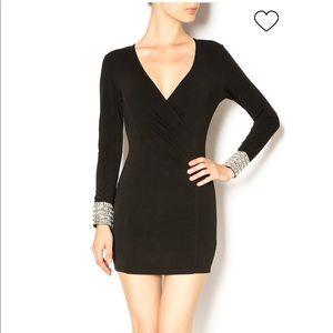 Xtaren Black Dress with Bling Handcuffs